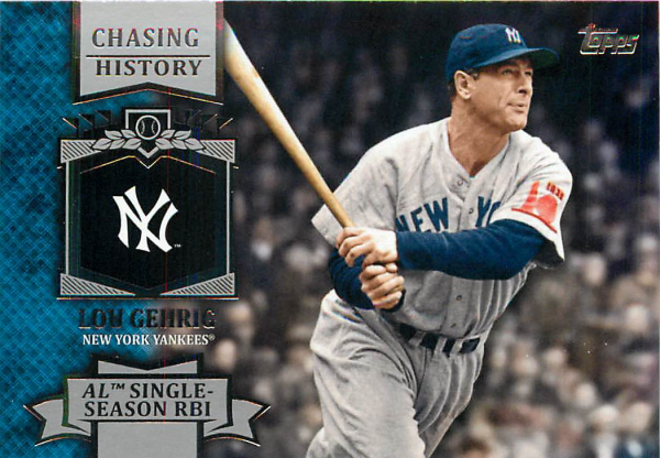 2013 Topps Chasing History #CH10 Lou Gehrig