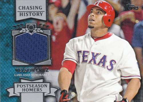 2013 Topps Chasing History Relics #NC Nelson Cruz S2