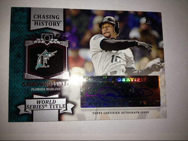 2013 Topps Chasing History Autographs #GS Gary Sheffield