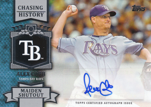 2013 Topps Chasing History Autographs #AC Alex Cobb S2