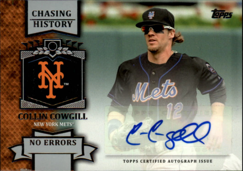 2013 Topps Chasing History Autographs #CC Collin Cowgill S2
