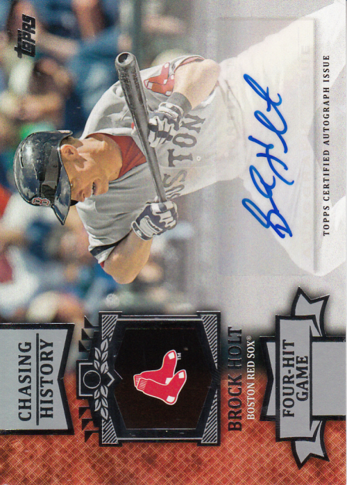 2013 Topps Chasing History Autographs #BH Brock Holt UPD