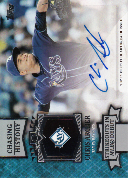 2013 Topps Chasing History Autographs #CA Chris Archer UPD