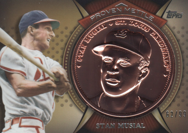 2013 Topps Proven Mettle Coins Copper #SM Stan Musial