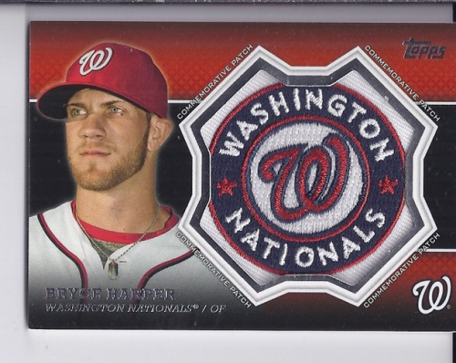 2013 Topps Manufactured Commemorative Patch #CP15 Bryce Harper