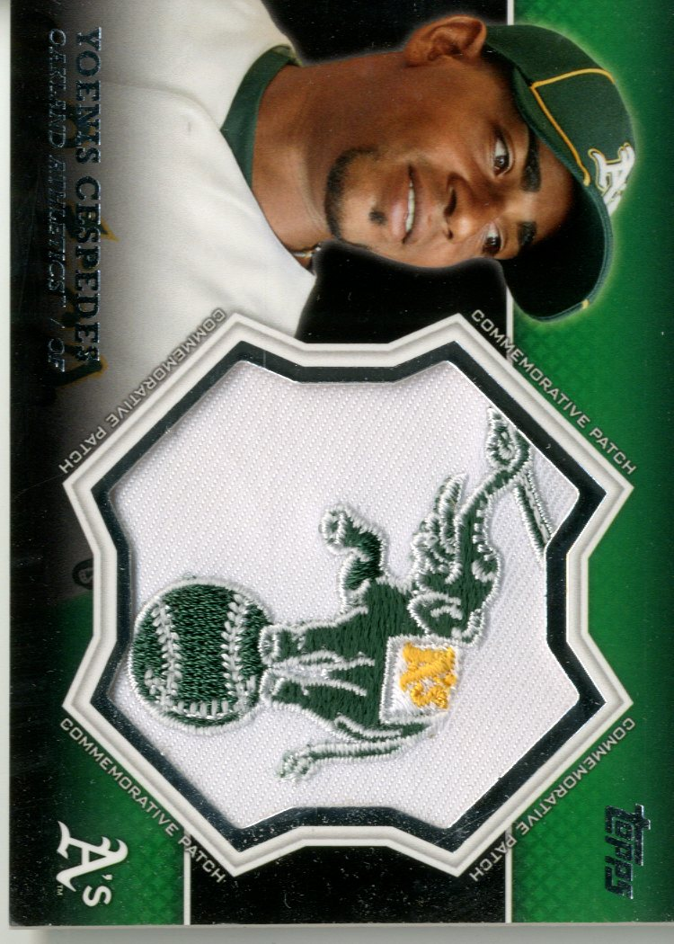2013 Topps Manufactured Commemorative Patch #CP18 Yoenis Cespedes