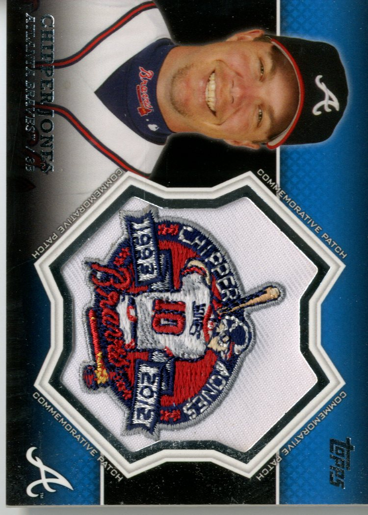 2013 Topps Manufactured Commemorative Patch #CP20 Chipper Jones
