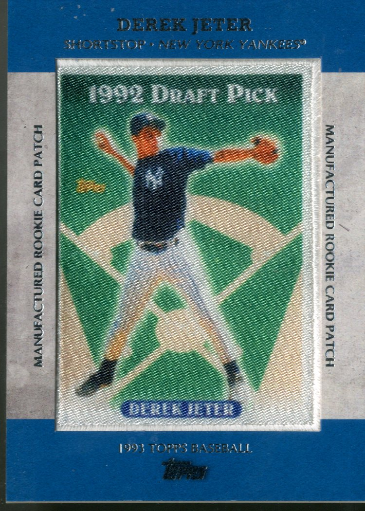 2013 Topps Manufactured Commemorative Rookie Patch #RCP21 Derek Jeter