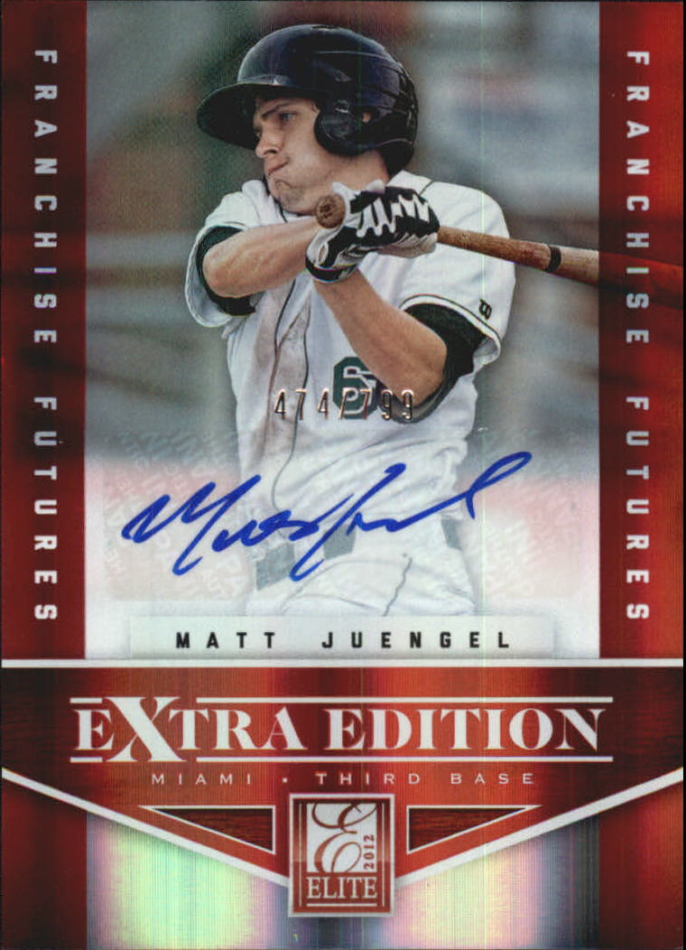 2012 Elite Extra Edition Franchise Futures Signatures #85 Matt Juengel AU/799