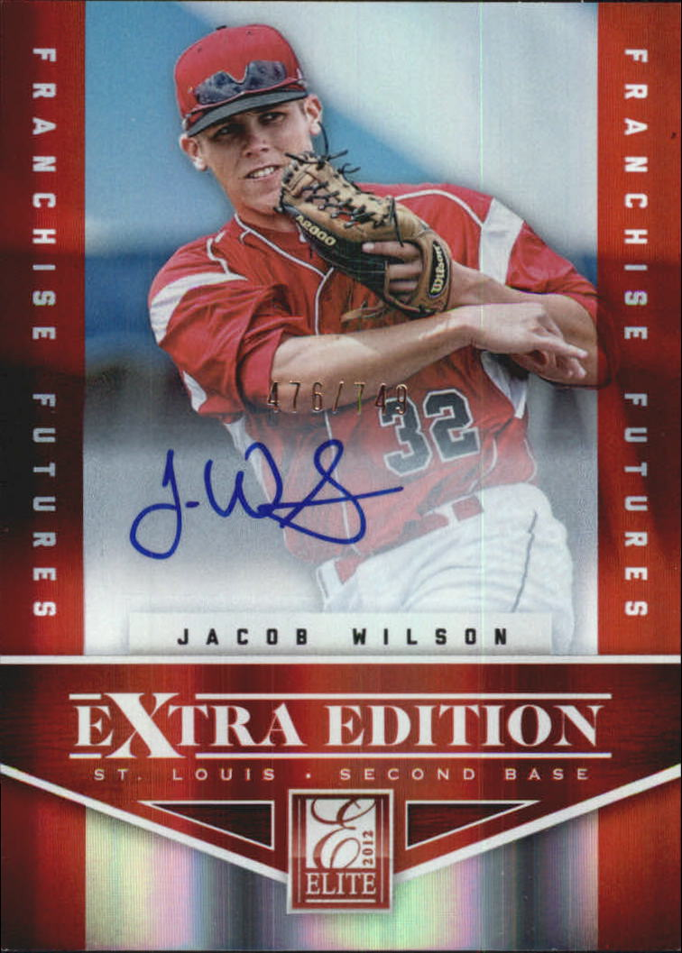 2012 Elite Extra Edition Franchise Futures Signatures #97 Jacob Wilson AU/749