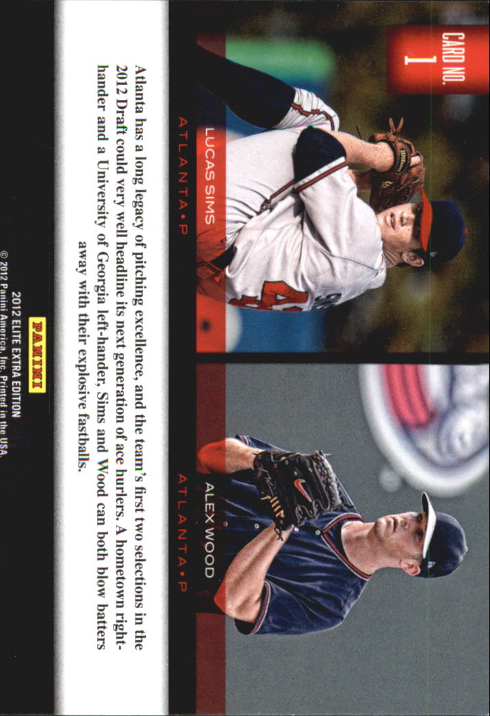 2012 Elite Extra Edition Building Blocks Dual #1 Alex Wood/Lucas Sims