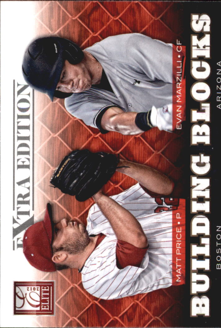 2012 Elite Extra Edition Building Blocks Dual #14 Evan Marzilli/Matt Price