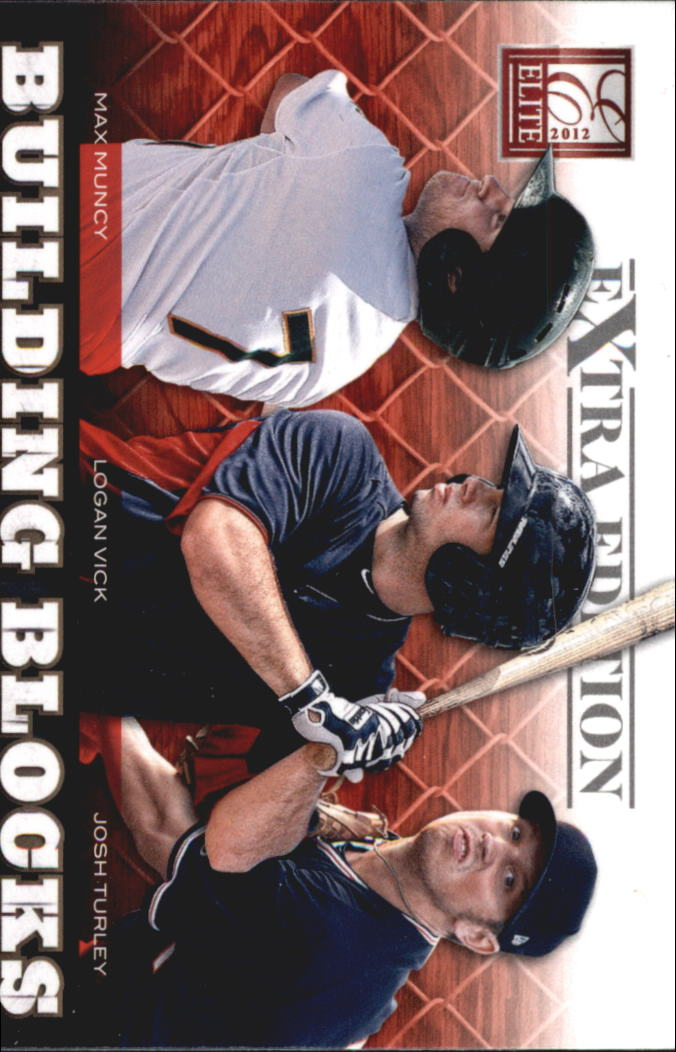 2012 Elite Extra Edition Building Blocks Trio #1 Josh Turley/Logan Vick/Max Muncy