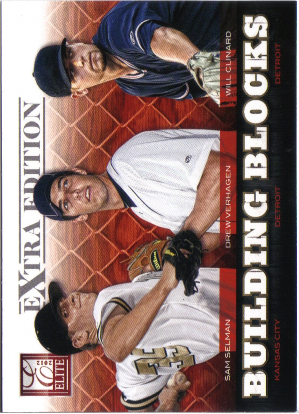 2012 Elite Extra Edition Building Blocks Trio #5 Drew VerHagen/Sam Selman/Will Clinard
