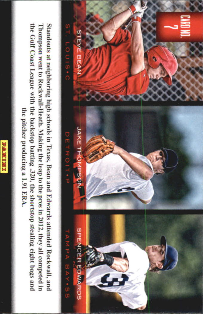 2012 Elite Extra Edition Building Blocks Trio #7 Jake Thompson/Spencer Edwards/Steve Bean