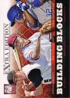 2012 Elite Extra Edition Building Blocks Trio #10 Brett Mooneyham/Stephen Piscotty/Kenny Diekroeger