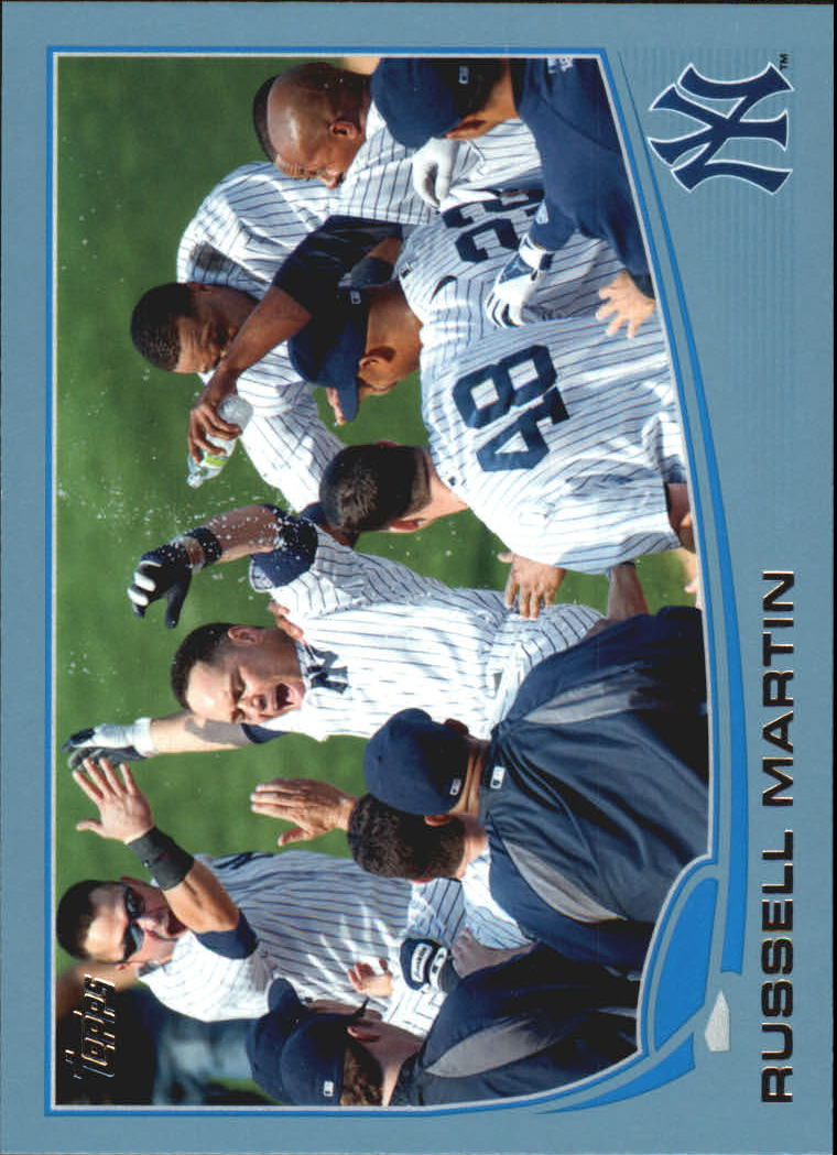 2013 Topps Wal-Mart Blue Border #282 Russell Martin