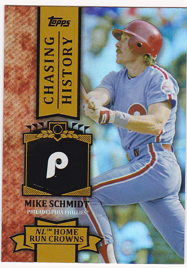 2013 Topps Chasing History Holofoil Gold #CH40 Mike Schmidt