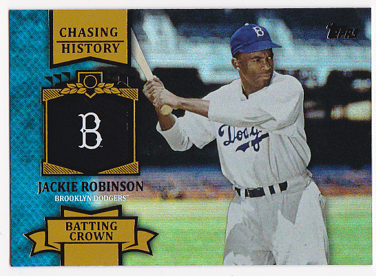 2013 Topps Chasing History Holofoil Gold #CH49 Jackie Robinson