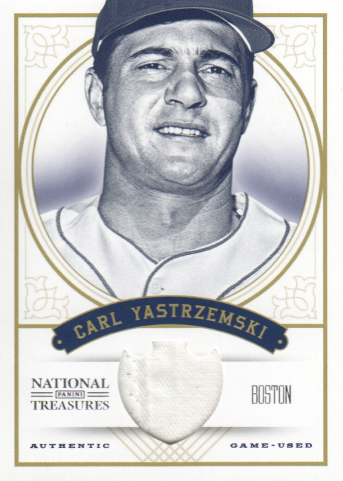 2012 Panini National Treasures #73 Carl Yastrzemski/25