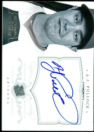 2012 Panini National Treasures #151 A.J. Pollock AU RC