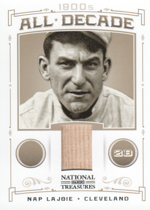 2012 Panini National Treasures All Decade Materials #1 Nap Lajoie/99