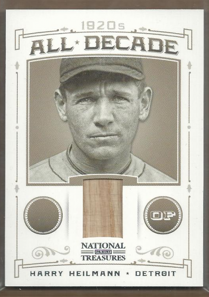2012 Panini National Treasures All Decade Materials #12 Harry Heilmann/99