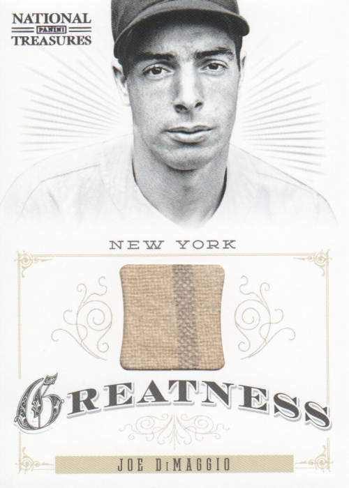 2012 Panini National Treasures Greatness Materials #7 Joe DiMaggio/99