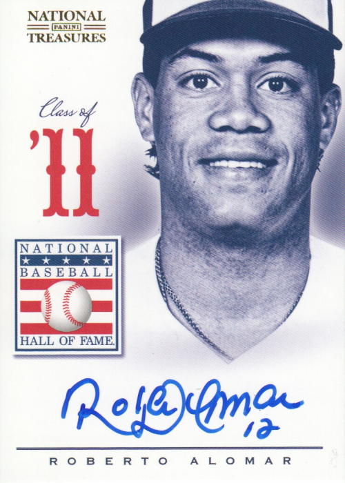 2012 Panini National Treasures HOF Class of Signatures #48 Roberto Alomar/25