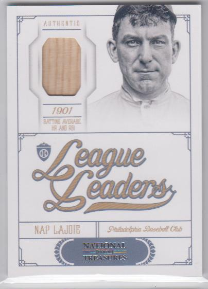 2012 Panini National Treasures League Leaders Materials #1 Nap Lajoie/99