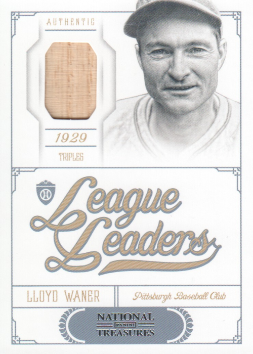 2012 Panini National Treasures League Leaders Materials #12 Lloyd Waner/99