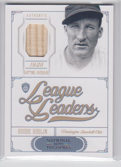 2012 Panini National Treasures League Leaders Materials #17 Goose Goslin/99