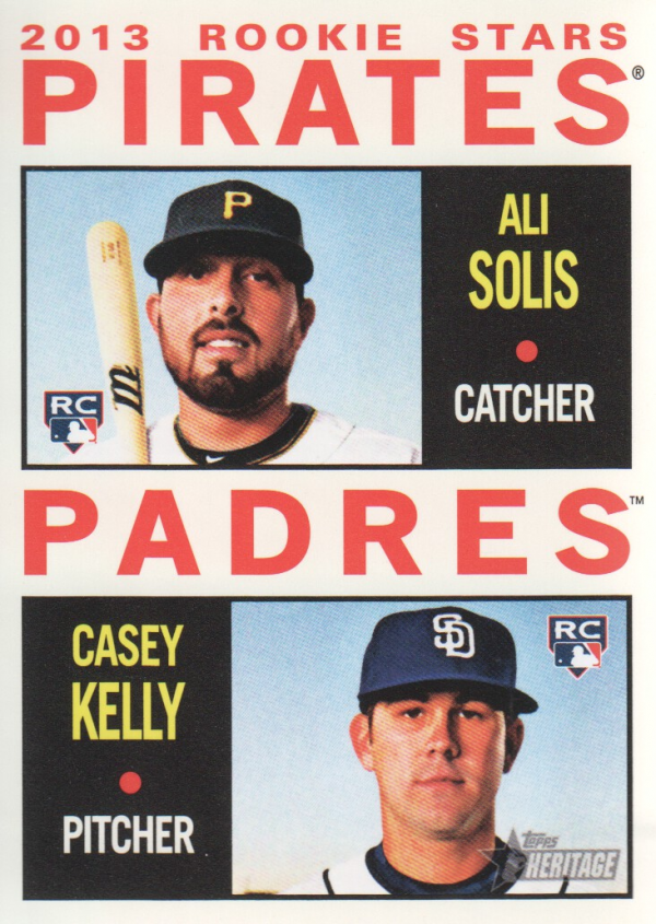 2013 Topps Heritage #388 Ali Solis RC/Casey Kelly RC
