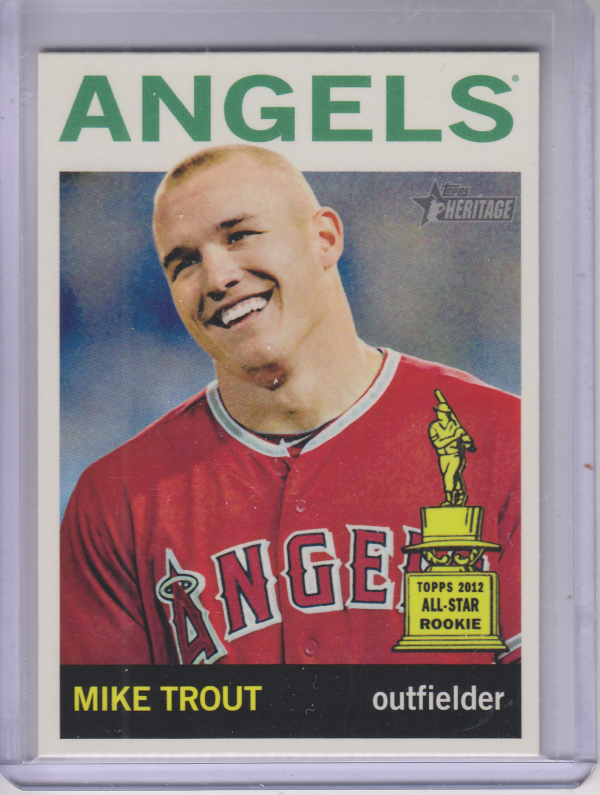 2013 Topps Heritage #430A Mike Trout SP