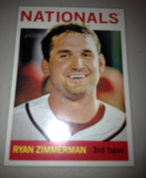 2013 Topps Heritage #432A Ryan Zimmerman SP