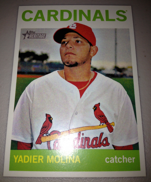 2013 Topps Heritage #477A Yadier Molina SP