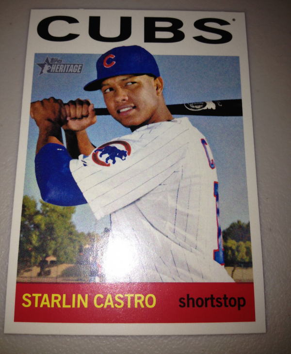 2013 Topps Heritage #485A Starlin Castro SP