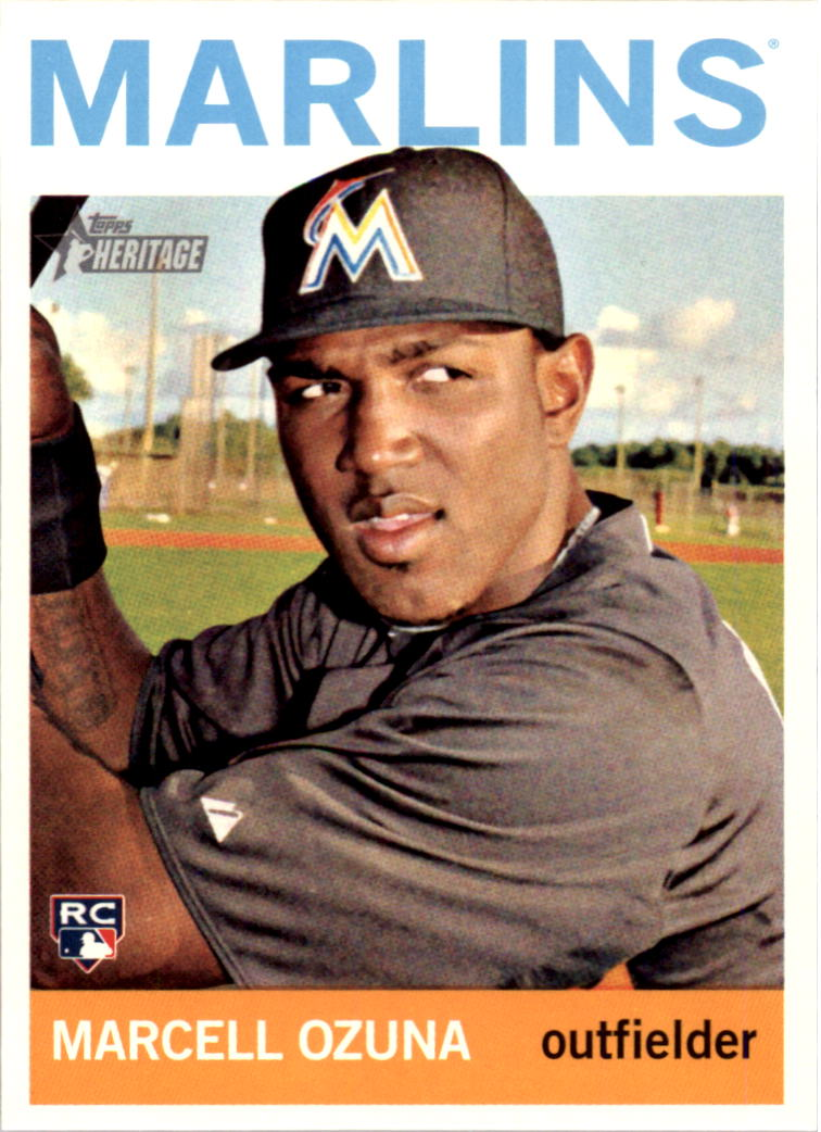 2013 Topps Heritage #H505 Marcell Ozuna RC