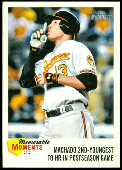 2013 Topps Heritage Memorable Moments #MM Manny Machado