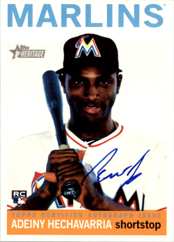 2013 Topps Heritage Real One Autographs #AHE Adeiny Hechavarria HN