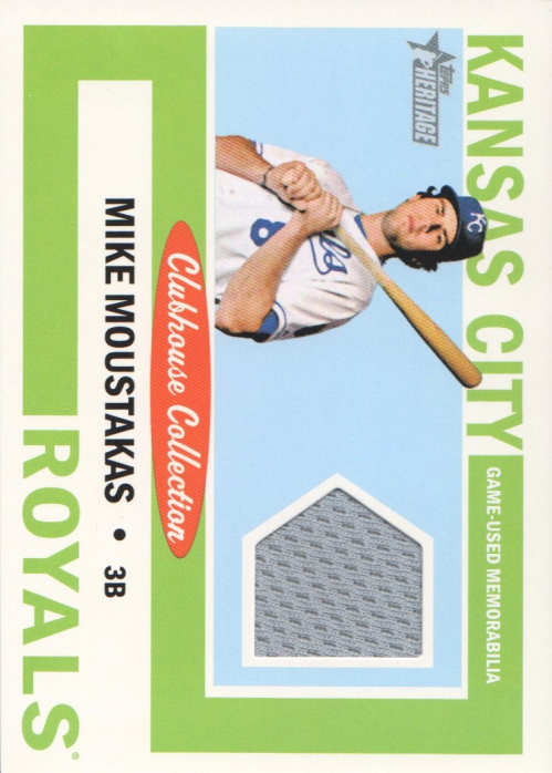 2013 Topps Heritage Clubhouse Collection Relics #MM Mike Moustakas