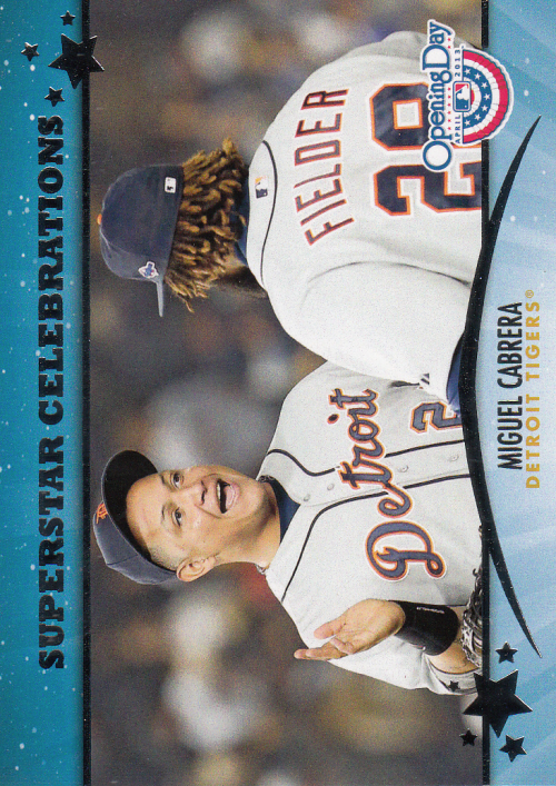 2013 Topps Opening Day Superstar Celebrations #SC22 Miguel Cabrera