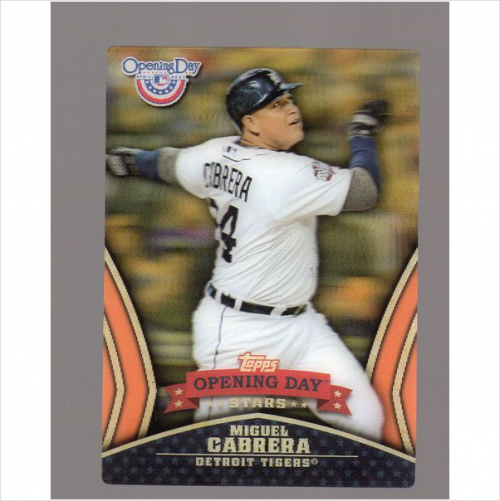2013 Topps Opening Day Stars #ODS3 Miguel Cabrera
