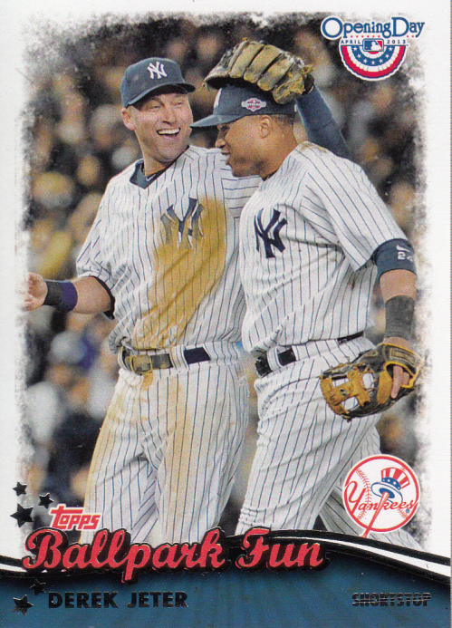 2013 Topps Opening Day Ballpark Fun #BF15 Derek Jeter