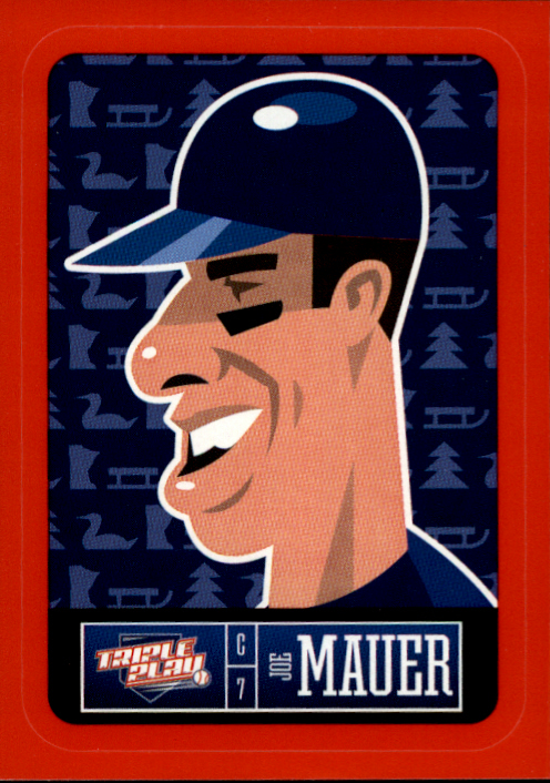 2013 Triple Play Stickers Red #15 Joe Mauer