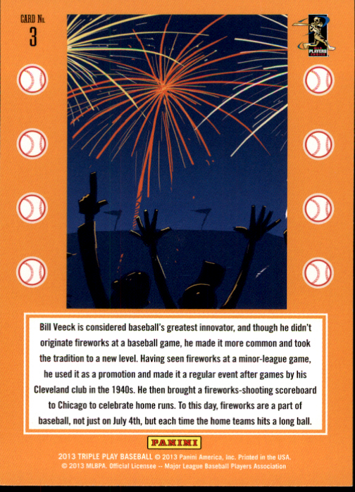 2013 Triple Play Traditions #3 Fireworks