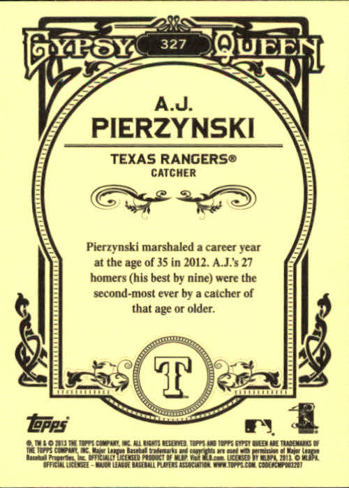 2013 Topps Gypsy Queen #327 A.J. Pierzynski