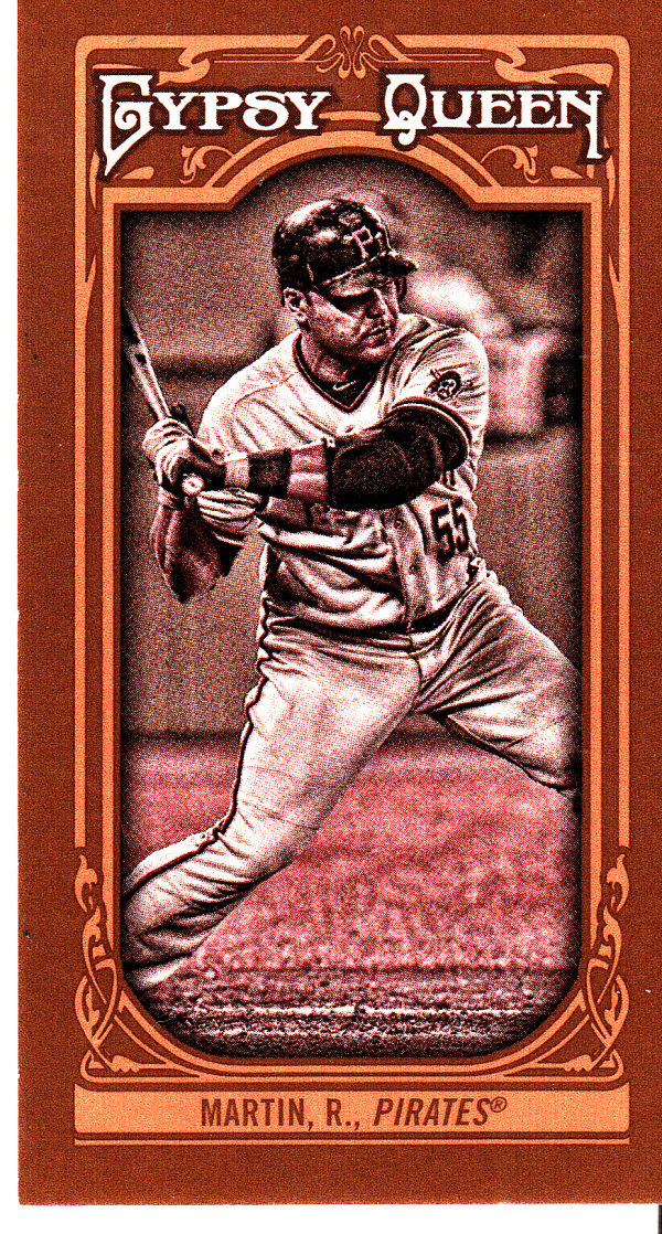 2013 Topps Gypsy Queen Mini Sepia #165 Russell Martin