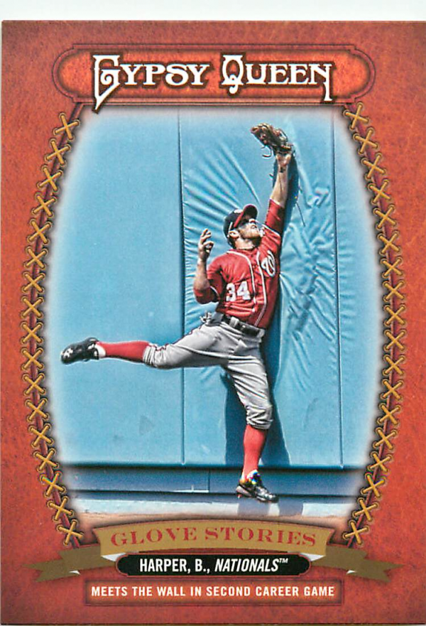 2013 Topps Gypsy Queen Glove Stories #BH Bryce Harper