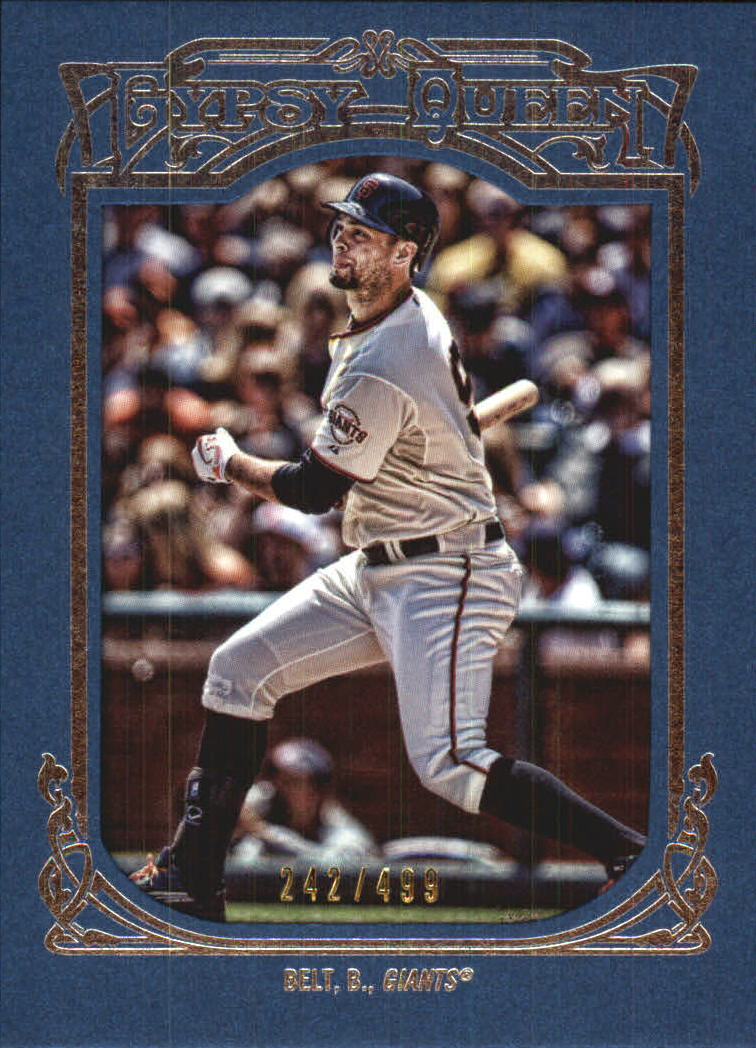 2013 Topps Gypsy Queen Framed Blue #17 Brandon Belt